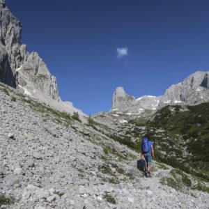 Landschaftlich schöner Zustieg zur Östlichen Schoberplatte im Hochköniggebiet