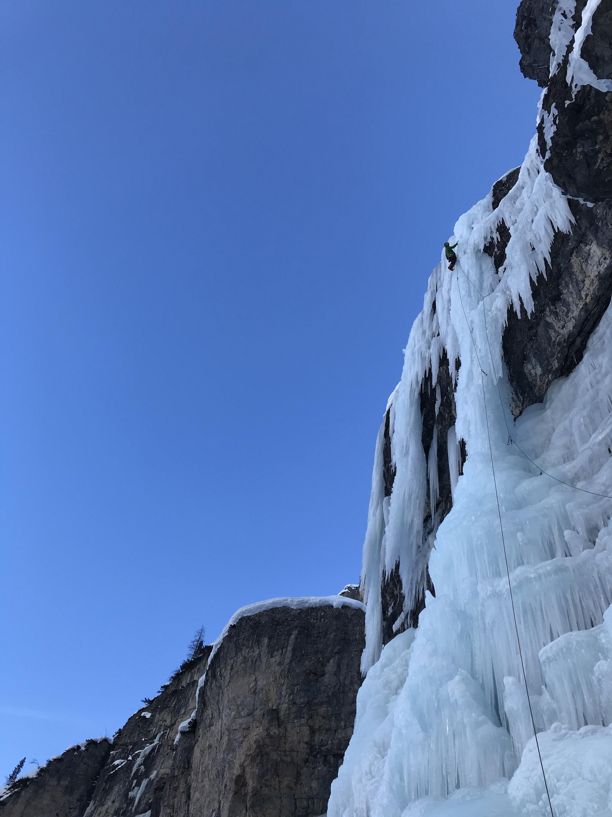 Eisklettern Dolomiten Travenanzes Pilone Centrale