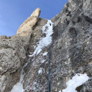 Eisklettern Dolomiten Rosengartenspitze