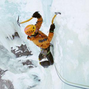 Eisklettern in den Dolomiten mit Bergführer Piovra Langental Gröden