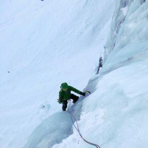 Eisklettern in den Dolomiten - Val travenanzes