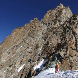 Bergsteiger am Normalweg am Zinalrothorn