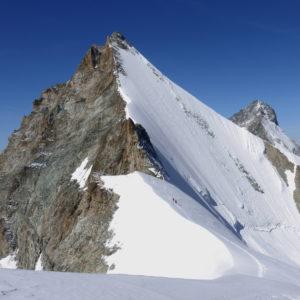 Abstieg vom Obergabelhorn Arbengrat.