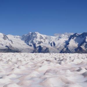 Monte Rosa, von der Rothornhütte geshen.