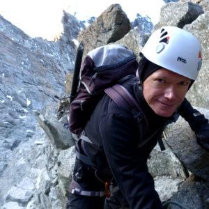 Am Zinalrothorn mit Bergführer