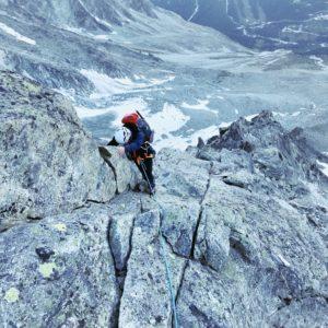 Schöne Kletterei am Dent de Tsalion Westgrat