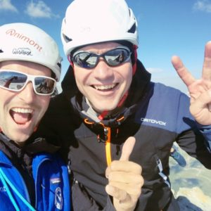 Gipfelfreude auf der Aiguille de la Tsa