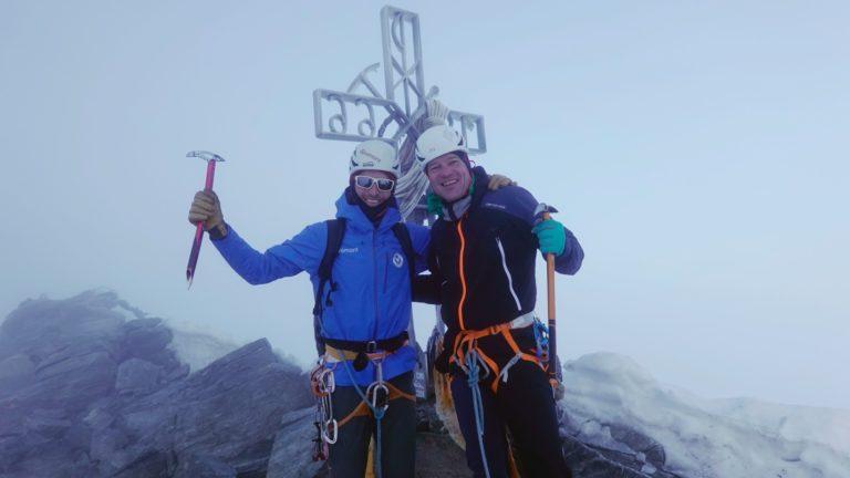 Eisige Gipfelfreude auf der Dent Blanche