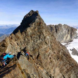Bergführer am Lagginhorn Südgrat