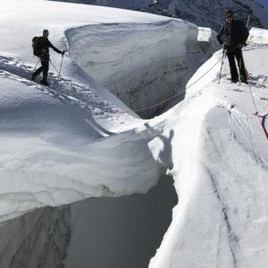 Gletscherspalte am Großvenediger