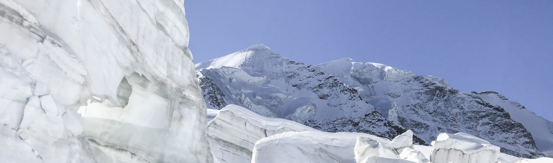 Gletscherspalten am Großvenediger