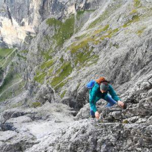 Vorbau der Messner Route an der Cima Madonna