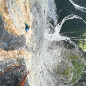 Klettern in der Pala di San Martino: Scalet Biasin am Sass Maor.