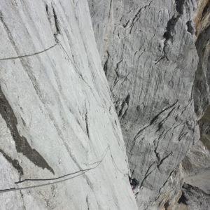 In der Gloria Patri klettern wir durch die gewaltigen Platten der Hochkönig Südwand