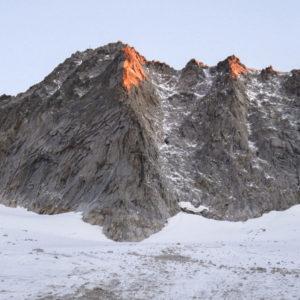 Die Südseite der Hochalmspitze mit dem Südpfeiler in der Bildmitte