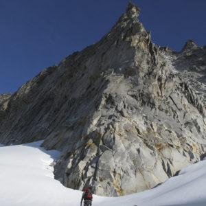 Der imposante Südpfeiler der Hochalmspitze