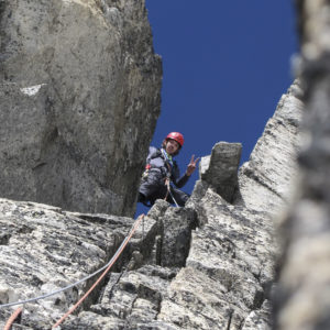 Kompakte, gutgriffiger Kletterei am Hochalmspitze Südpfeiler