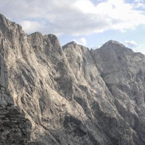 Die fast 1000m hohe Hochtor Nordwand