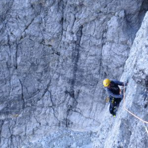 Bergführer in der Messner am 2. Sellaturm