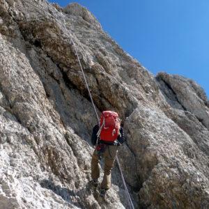 Abseilen von der Punta Penia auf der Marmolada