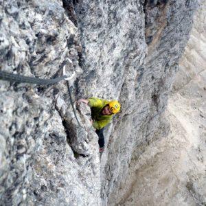 2. Sellaturm Nordwand: Messner Route. Unterwegs mit Bergführer