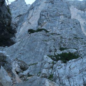 Die Rosskuppenkante kurz vor dem Einstieg