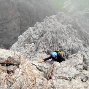 Südostkante der großen Fermeda. Unterwegs in den Dolomiten mit Bergführer.