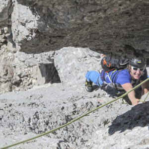 Schöne Kletterei im Steinerweg