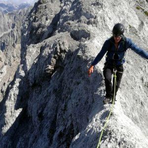 Mit Bergführer am Reitergrat zum Kleinen Solstein