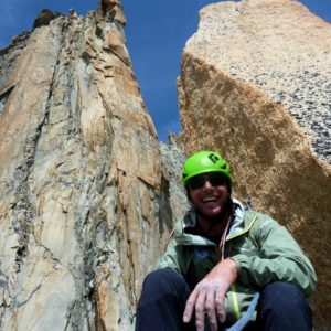 Bergführer an der Argentiere Südwand