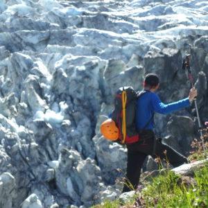 Am glacier du Argentiere. Zustieg zum Refuge Argentiere