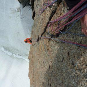 An der Argentiere Südand. Klettern mit Bergführer