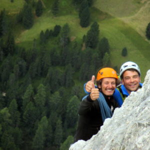 Mit Bergführer in der Glückkante am Torre Firenze