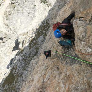 Alpinklettern in der Sellagruppe mit Bergführer