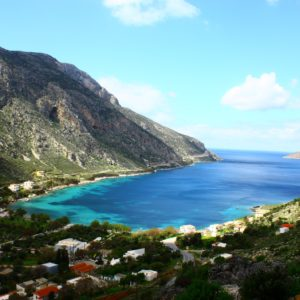 Aussicht auf Arginonta in Kalymnos.