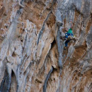 Kletter eines Kletterkurses auf der Griechischen Insel Kalymnos
