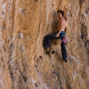 Kursteilnehmer eines Kletterklurses auf Kalymnos