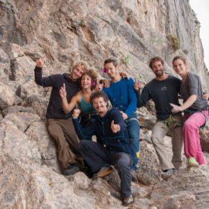 Teilnehmer vom Kletterkurs auf Kalymnos