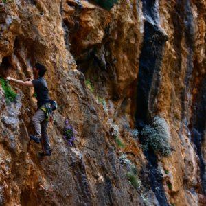 Kletterkurs auf Kalymnos mit Bergführer.