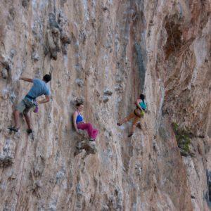 Rasten im Klettergarten Secret Garden auf Kalymnos