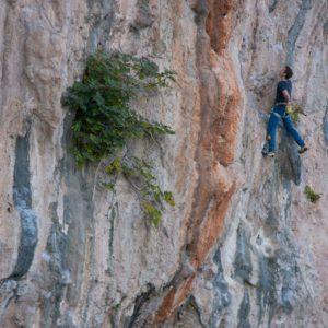 Kletterkurs mit Bergführer auf Kalymnos. Der Klettergarten heißt Secret Garden.