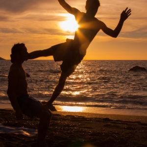 Yoga am Strand von Kalymnos