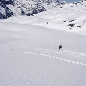Powder Hunting - auf der Suche nach dem besten Schnee. Hier am Gran paradiso