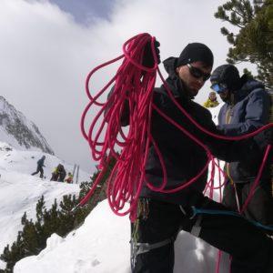 Abseilen am Skihochtourenkurs mit Bergführer