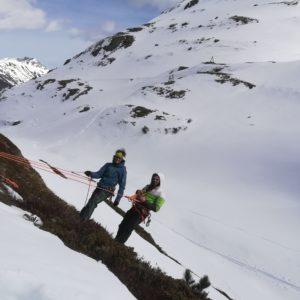 Spaltenbergung beim Skihochtourenkurs im Stubaital
