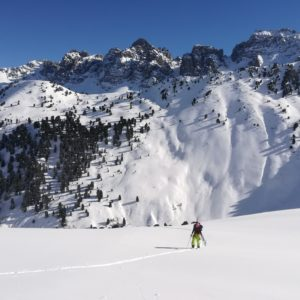 Aufstieg im perfekten Skitourengelönde
