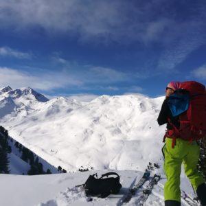 Aussicht beim Skitourengehen