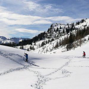 Lawinenverschüttetensuche beim Skitourenkurs