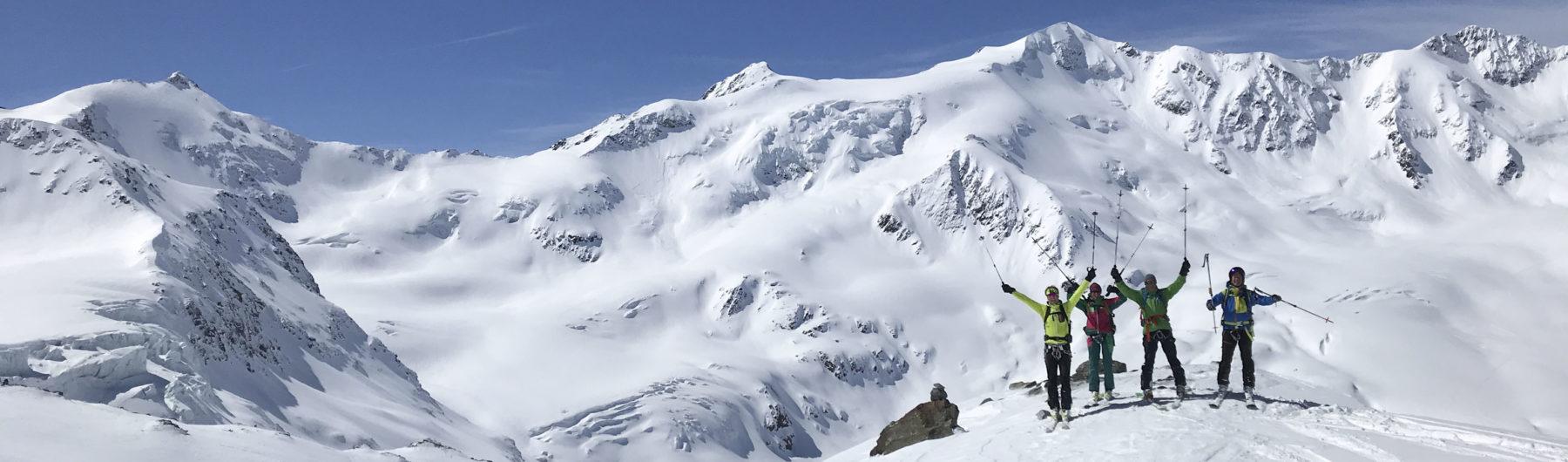 Skihochtouren in den Südlichen Ortlerbergen rund um das Rifugio Branca