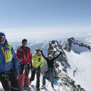 Am Gipfel des Gran Paradiso während unserer Skihochtour